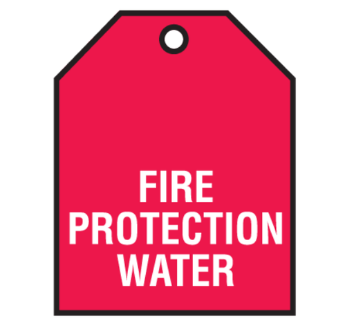Plastic Red Fire Protection Water Valve Tags