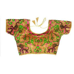 Cotton Half Sleeve Embroidered Designer Blouse