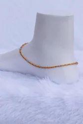 Alloy Unique Y3 Simple Golden Anklet
