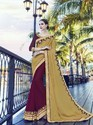 Moss Chiffon And Georgette Half Saree