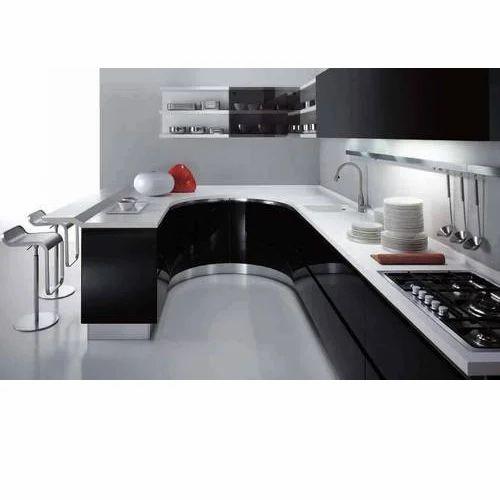 Pvc L Shape Modern Modular Kitchen Rs 850 Square Feet: Acrylic Modular Kitchen Manufacturer