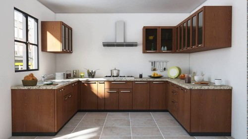 Classic Green U Shape Modular Kitchen Rs 1100 Square Feet Modular