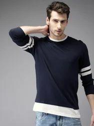 Blue Full Sleeve Men T-Shirts