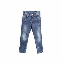 Kids- Boys Blue Washed Jeans Pants