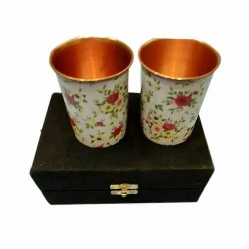 2 Piece Obbi Digital Printed Copper Glass Gift Set