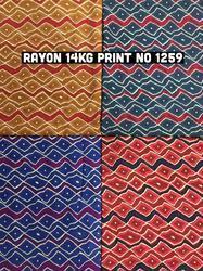 New Rayon Print Fabric