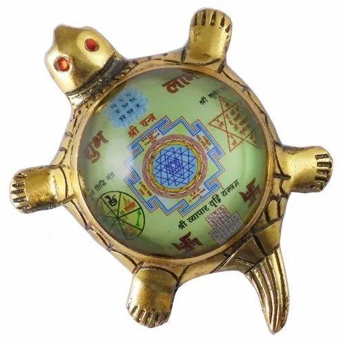 Eshoppee Shri With Vyapar Vridhi Yantra On Metal Tortoise