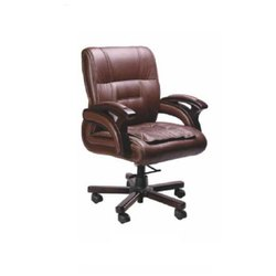 IS-C014 Low Back Leather Chair