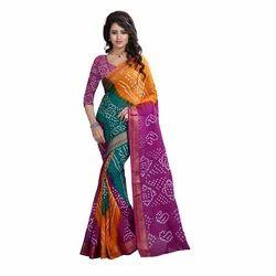 Ramapir Fashion Women's Wear Cotton Bandhani Saree