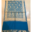 Blue Pashmina Embroidered Stole