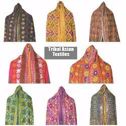 Phulkari Hand Embroidery Scarves Wrap Shawls