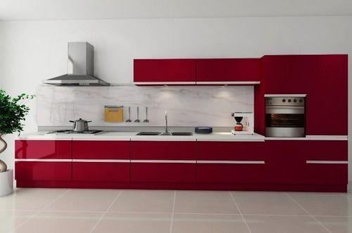 Wooden Commercial Modern Modular Kitchen Warranty 1 5 Years