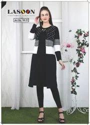 CT-403 Black Woolen Tops
