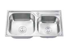 Double Bowl Kitchen Sink 750x400mm 0.4mm