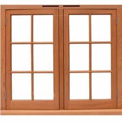 Wood Color Rectangular Wooden Window
