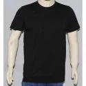 Casual Wear Plain Black Round Neck T Shirts