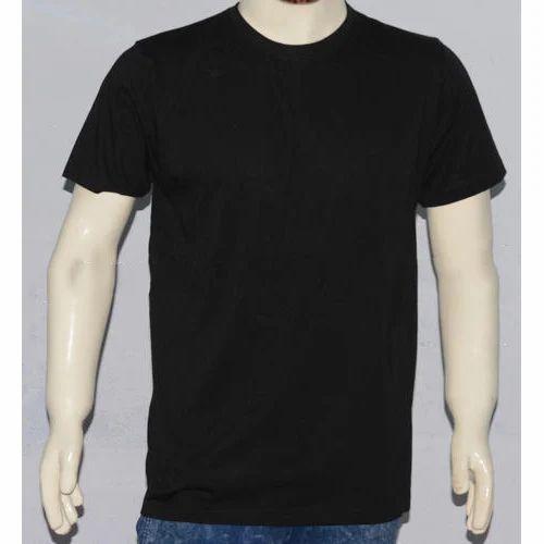 Black Round Neck T Shirts