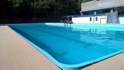 Blue FRP Swimming Pool