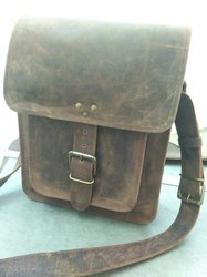 Vintage Buffalo Leather Messenger Bag