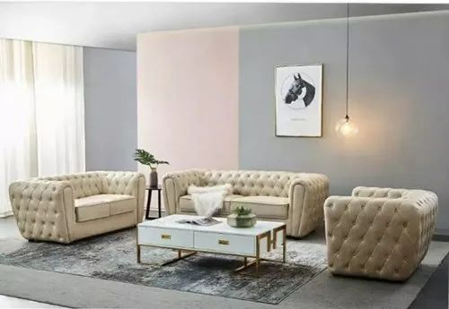 Applewood 6 Seater Home Wooden Sofa Set, For Home,Office ...