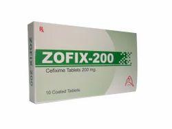 Cefixime片剂,剂量:200毫克,包装型:水泡