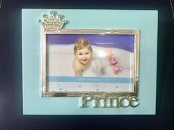 PF1099- Blue Crown Photo Frame With Prince