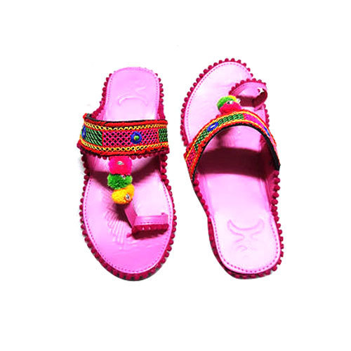 Ladies Kolhapuri Slipper, Size: 7-10