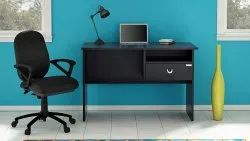 Black Wood Home Office Table - Study Table for Home, Size: 100.1 x 71.9 x 48 cm