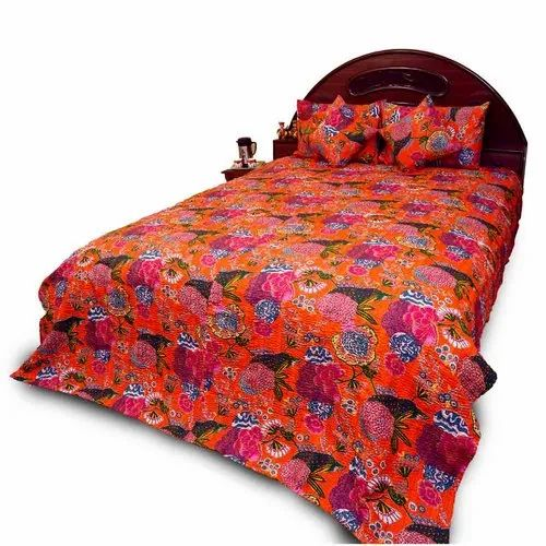 Thread Work Double Bed Cover 529