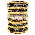 Highend Fashion Silk Thread Bangles For Ladies