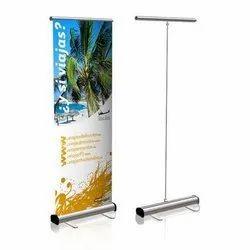 铝合金卷起横幅立体,广告,尺寸:6x2.5英尺