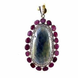 Ruby Sapphire Pendant