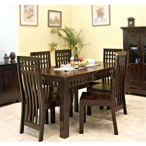 Wooden Dark Brown Seater Dining Table Rs Set Royal - 5 seater dining table