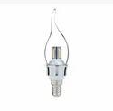 4w Cool Daylight Syska Dimmable Glass Candle Bulb