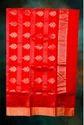 Chnbplpnk-chanderi Saree. Red Color