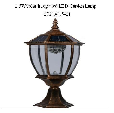 1.5 W Solar Integrated LED Garden Lamp