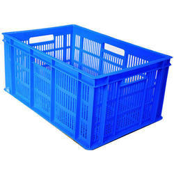 Blue Perforated Plastic Crate