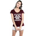 V Neck Ladies Cotton Crop Top