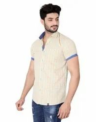 For Textile 100%Cotton Yarn Dyed Carbon Finish Check Shirts
