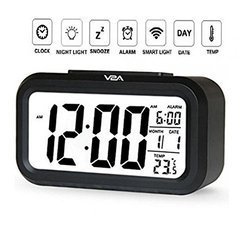 Automatic Sensor Night Time Light Smart Digital Alarm Clock for Home and Office