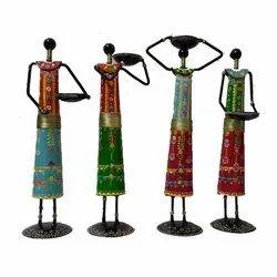 Indian Iron Musician Dolls Set