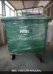 HIBI Wheeled Dustbin 660Ltr