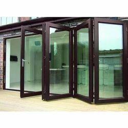 Toughened Glass UPVC Folding Door, 12 Mm