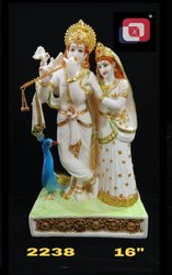 Artificial Gold Polyresin Radha Krishna Idol