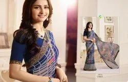Multicolor Georgette Saree, 5.5 M (separate Blouse Piece)