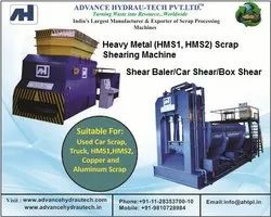 Used Car Scrap Shear Baler