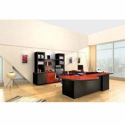 Black And Brown Godrej Executive Desk