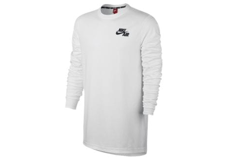 9a65bf83188f White Nike Air Long Sleeve Top