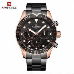 Naviforce Round 9147 Men Chronograph Watch Xhain Black