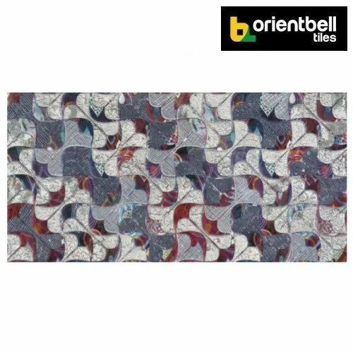 Orientbell Tiles Orientbell OTF CHARMY MULTI Decorative Wall Tiles, Size: 300X600 mm